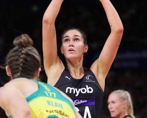 New Silver Ferns captain Ameliaranne Ekenasio, seen here shooting against Australia in a...