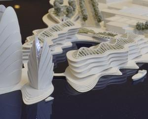 Plans for the cockleshell-shaped cultural centre in the Harbour Basin have been deferred. PHOTO:...
