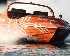 A Go Orange jet-boat similar to the one that crashed yesterday. PHOTO: ODT FILES
