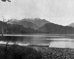 Lake Kanieri, a lovely sheet of water, about 19 kilometres from Hokitika, Westland. — Otago...