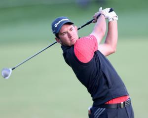 Australia's Lucas Herbert in action in Dubai last month. Photo: Reuters