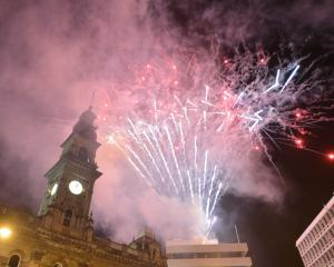 Fireworks light the sky in Dunedin as the decade ends. Photo: Gerard O'Brien