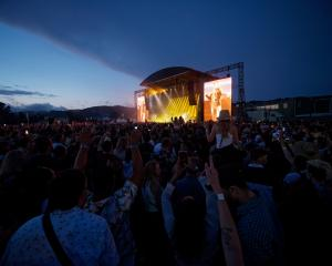 Six60 takes to the stage in front of 25,000 fans at the Hutt Recreation Ground in Lower Hutt last...