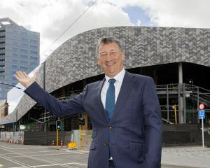 Te Pae general manager Ross Steele stands in front of what will be the central city's new...