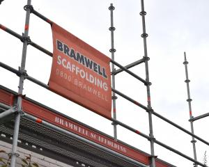 Bramwell Scaffolding in Dunedin. Photo: Gerard O'Brien