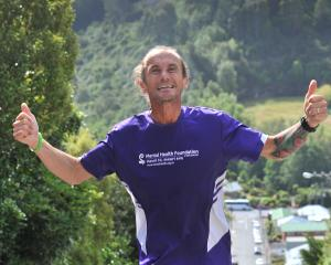 Long-distance runner Steve Tripp completes 15 ascents of Baldwin St yesterday. PHOTO: CHRISTINE O...