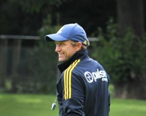 Highlanders assistant coach Tony Brown at training at Logan Park yesterday. Photo: Christine O...