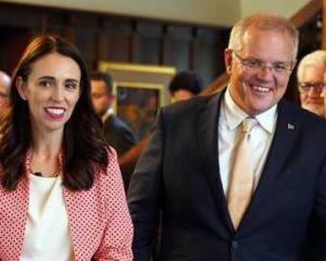 Jacinda Ardern and Scott Morrison. Photo: Pool/NZ Herald
