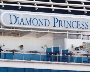The Diamond Princess has been docked outside Yokohama under quarantine since February 4. Photo:...