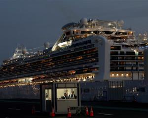 Diamond Princess docked at the Daikoku Pier Cruise Terminal in Yokohama, south of Tokyo. Photo:...