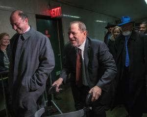 Harvey Weinstein departs New York Criminal Court after the third day of jury deliberations in his...