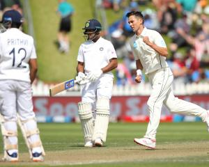 Trent Boult followed up his counter-attacking cameo innings of 38 to take three wickets,...