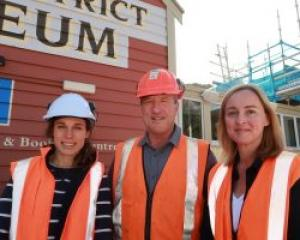 Local Origin Consultants' UK-registered architect Kirsten Gibbs, left, with museum director David...