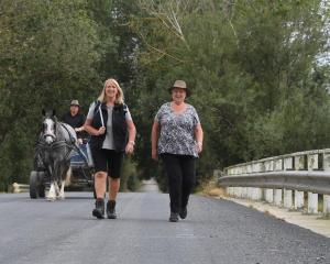 Cavalcade trail bosses Sandra Cain (left) and Chris Bayne are notching up milestones on this year...