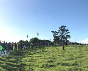 Protesters attempt to stop the development of Otuataua Stonefields at Ihumatao in south Auckland...
