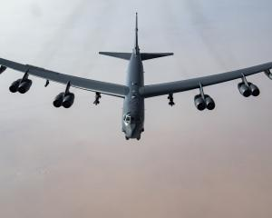 An American B-52 bomber similar to this will put on a display at the Easter Warbirds Over Wanaka...