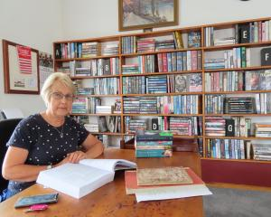 Volunteer Rakaia librarian Liz Depree in the town's transformed and popular reading space.