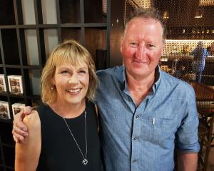 Jane Hurley with former 3L classmate Brian McGuigan at the reunion.