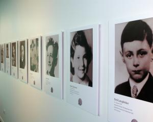 Child profiles that are part of the Children's Holocaust Memorial at the Ashburton Museum.