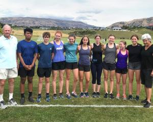 Wanaka athletes (from left) Michael Beable (coach), Kyle Castillejos, Ryan Young, Laura...