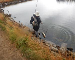 Murray Smart nets a 2.7kg rainbow at Blakely's Dam. PHOTO: MIKE WEDDELL