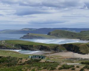 Looking southwest over the Yellow-Eyed Penguin Trust's new Long Point field base in the Catlins....