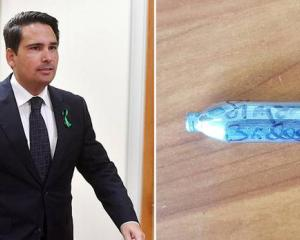 """National Leader Simon Bridges has been labelled """"blissfully unaware"""" after signing a nitrous..."""