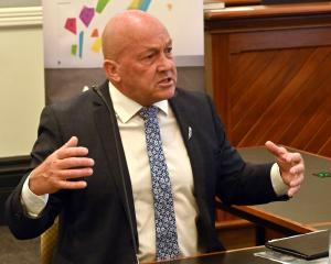 Clutha mayor Bryan Cadogan at Representation Commission hearings in Dunedin this week. PHOTO:...