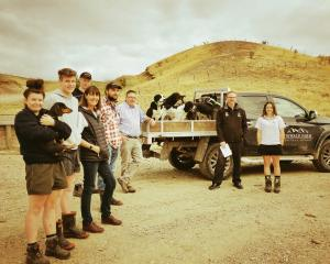 The Tinwald Farm team and polytechnic staff (from left) Ashlea Forbes,  Jonathan Currie, Matthew...