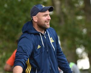 Highlanders scrum coach Clarke Dermody. PHOTO: PETER MCINTOSH