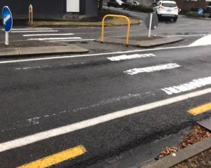 A Christchurch City Council contractor will remove an illegally painted pedestrian crossing on a...