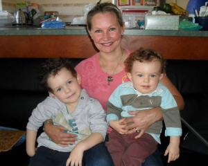 Danica Weeks with her sons Lincoln and Jackson. Photo: Supplied via NZ Herald