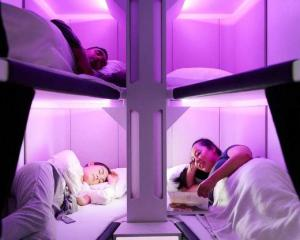 The new Air NZ 'Skynest' sleep pods. Image: supplied