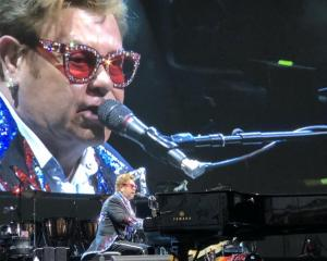 Sir Elton John performing in Dunedin last week. Photo: supplied