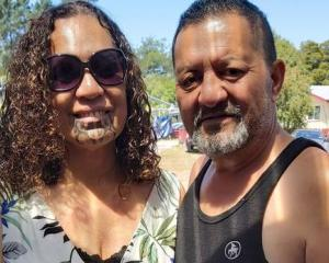 Esther Tinirau, 55, pictured with partner Mike Neho - has stage 4 bowel cancer. Photo: Supplied...