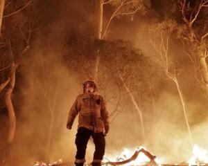 Fergus Simpson spent the summer fighting the bush fires in Australia. Photo: Supplied/Fergus Simpson
