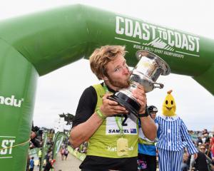 Sam Clark celebrates his win. Photo: Getty Images