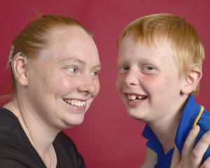 Dunedin residents Beca Harper and her son Oliver have cochlear implants. PHOTO: GREGOR RICHARDSON