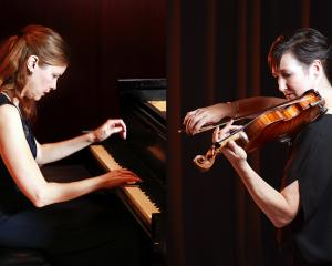 Pianist Kate Boyd and violinist Justine Cormack. Photo: Brent Smith