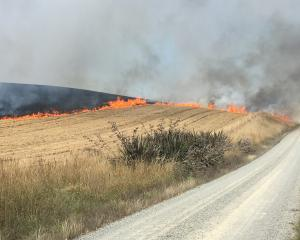 Crews from the Kakanui Volunteer Rural Fire Force were called to the blaze in Happy Valley Rd at...
