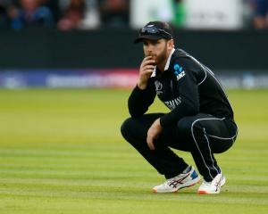 Kane Williamson during the Cricket World Cup final loss. Photo: Getty Images