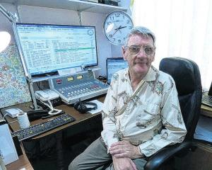 Lawrence McCraw in the Puketapu Radio studio. Photo: supplied