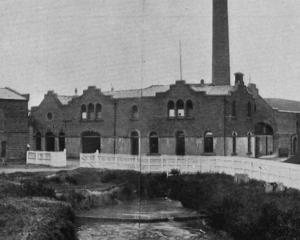 A general view of the Mosgiel Woollen Mill Company's extensive mills and factory. — Otago Witness...