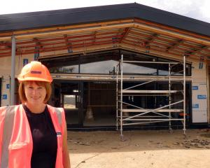 The Terrace School's new administration block and technology centre are taking shape, to the...