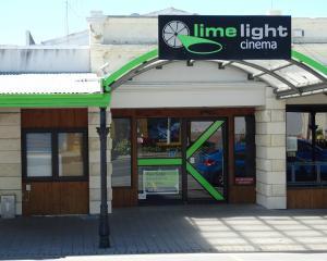The now-closed Limelight Cinema in Oamaru. PHOTO: DANIEL BIRCHFIELD