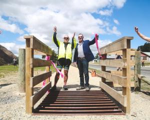 Waitaki District Council Ahuriri ward councillor Ross McRobie (left) and Mackenzie Mayor Graham...