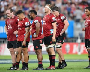 Oliver Jager (left) will make his third consecutive start at tighthead prop for the Crusaders....