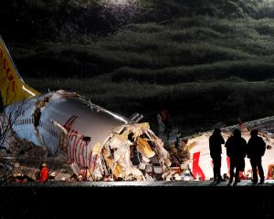 Pegasus Airlines plane overruns runway and crashes at Istanbul's Sabiha Gokcen airport. Photo:...