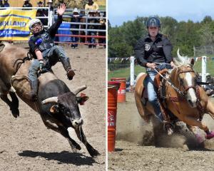 Legacy Wallace-Latoa (16, left), of Rotorua, and Caitlyn Hey (14), of Cust, North Canterbury,...