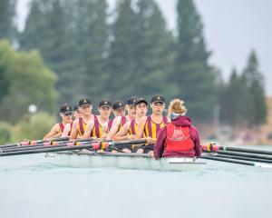 The Cashmere High School men's novice eight earned a silver medal at the South Island regatta on...
